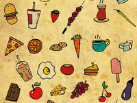 Food Love Pattern