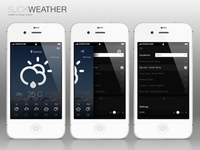iPhone SlickWeather App (Slide Motion)
