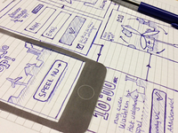 Wireframes sketch