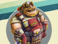 Aircraft mechanic character