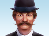 A Man With Moustache