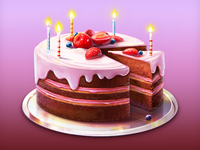 Birdhday Cake Illustration