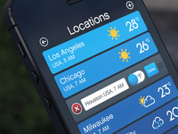 Weather App locations list