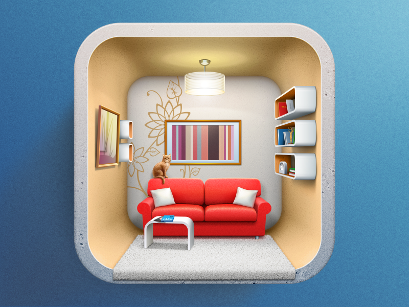 Dribbble Icon For Interior Design Applicaion By Artua