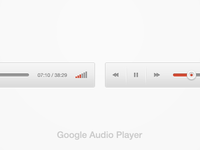 New Google Audio Player