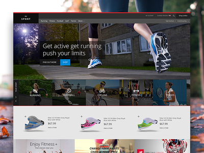 Download Sports Website Freebie