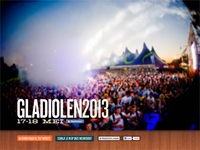 Splash page for Gladiolen 2013