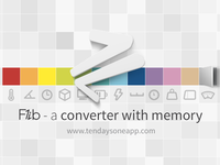 Flib - A converter with memory (Feature Graphic)