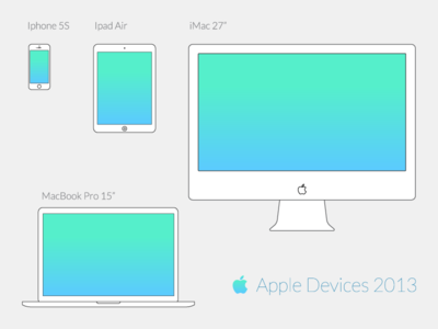 Download Apple Vector Wireframe Devices (2013)