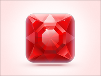 iOS Icon Ruby On Ice