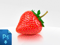 Strawberry - free psd
