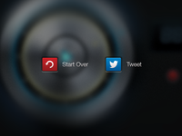 Start Over + Tweet buttons