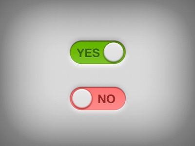 Download Yes – No Switch PSD Freebie