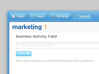 Marketing1 interface redesign