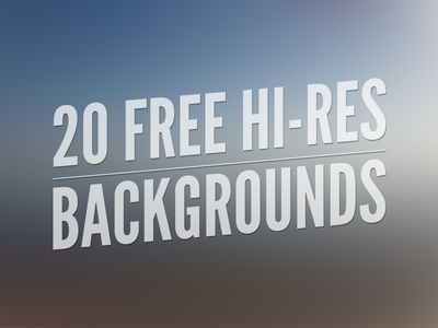 Download 20 Free Hi-Res Backgrounds