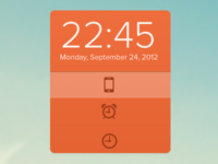 Kevins Clock widget