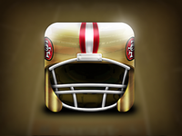 SF 49ers Helmet Icon