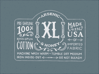 Arsenic & Honey - Garment Label