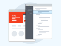 Sentry browser illustration