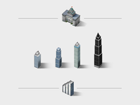 Skyscrapers & municipal buildings
