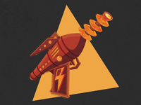Ray Gun Vector Illustration
