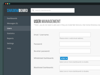 Dashboard Admin UI - User Management