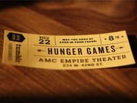 Golden Hunger Games ticket.