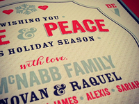 McNabb Holiday Card- Printed