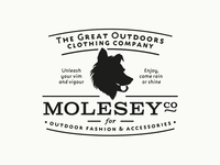 """MoleseyCo: The Great Outdoor Clothing Company"" Logo Design"