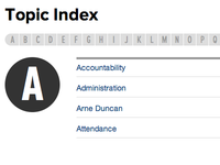 StateImpact Topics Index