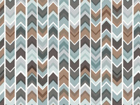 Asymmetrical Chevron Pattern