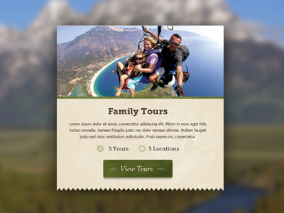 Family Tour Category Overview