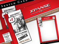 Comic Con Sketch Card - Xpanse CGI