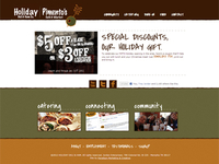 Holiday Deli & Ham Co. - website design