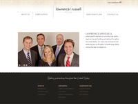 Lawrence & Russell - website design