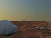 Low poly Tatooine