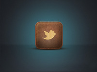 Twitter Leather Icon