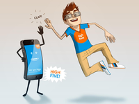 "iPhone5 ""high five"" entry"