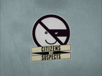 Citizens Not Suspects Logo Concept