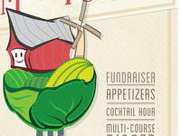 Farmers Market Poster - Vegetable / Farmhouse Illustration