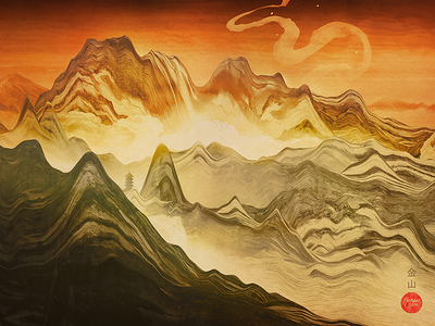 Download Golden Mountain Wallpaper