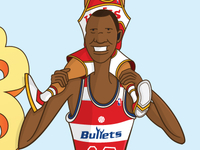Manute + Spud = Besties