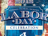 Vintage Labor Day Flyer Template