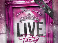 Live Party Flyer Template