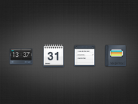 some icons of a set : alarm, calendar, task and gallery