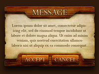 Game Message Box
