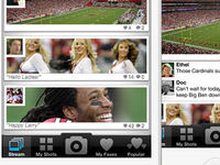 Photo Stream for sports app concept