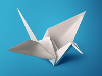 White Origami Bird(PS)