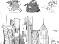 Doha App Game sketches
