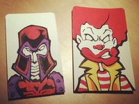 Magneto & Ronald notebook covers